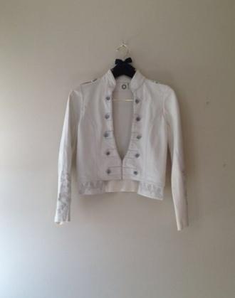 jacket white leather jacket army green jacket white jacket white embroidered