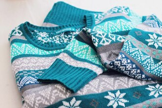 blue sweater sweater winter outfits blue snow flakes snow grey cute christmas sweater