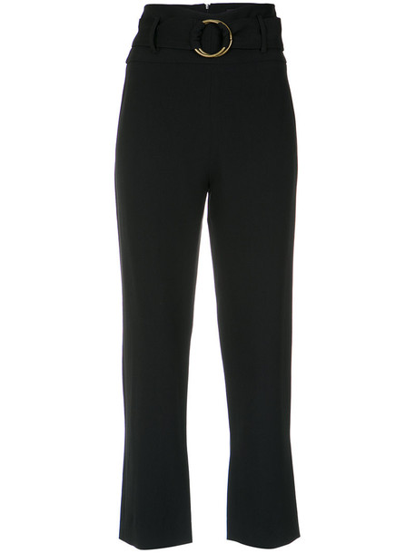 cropped women black pants