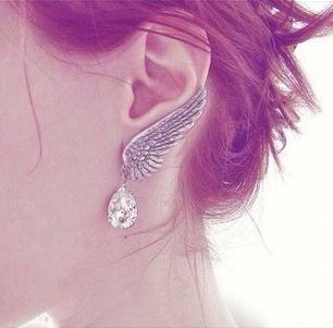 Angel Wings Swarovski Crystal Drop Earrings