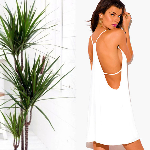 Low side cut summer dress