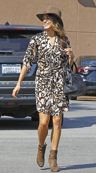 animal print dress nikki reed fall outfits