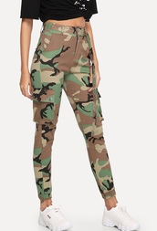 pants,girly,girl,girly wishlist,cargo pants,army green,army pants,joggers