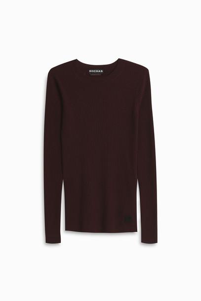 Rochas sweater purple