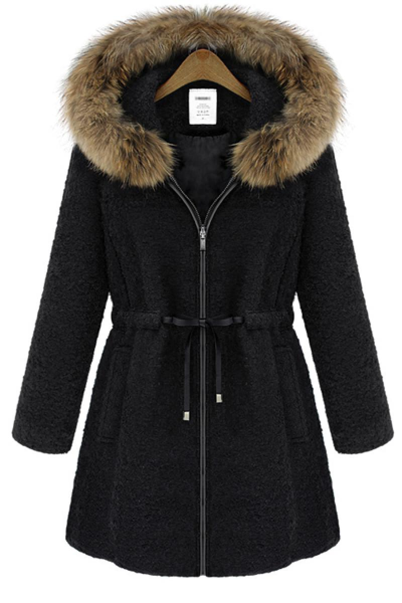 2013 New Fur Collar  Big Size Woolen Overcoat,Cheap in Wendybox.com