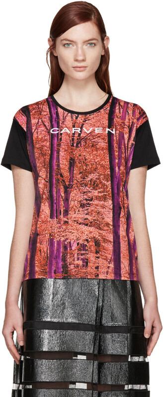 t-shirt shirt forest multicolor top