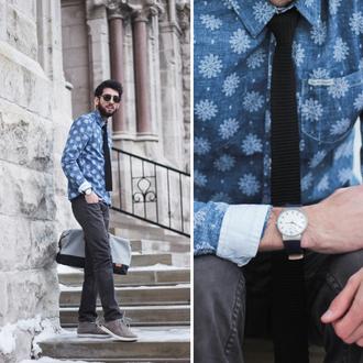 bobby raffin blogger hipster menswear mens watch denim shirt mens shirt jewels jeans shirt bag sweater sunglasses