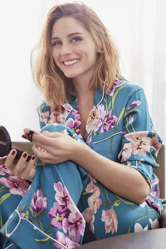 pajamas floral pajama pants olivia palermo blogger