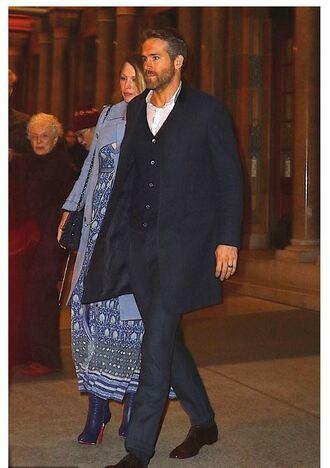 dress maxi dress coat blake lively ryan reynolds fall outfits