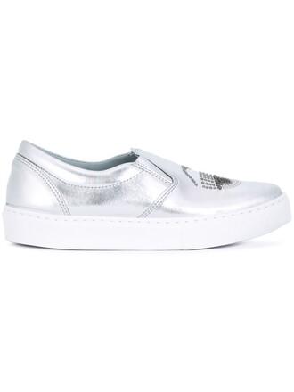 embellished sneakers metallic shoes