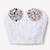 Silver Studded Lace Bustier - White | RUNWAYDREAMZ