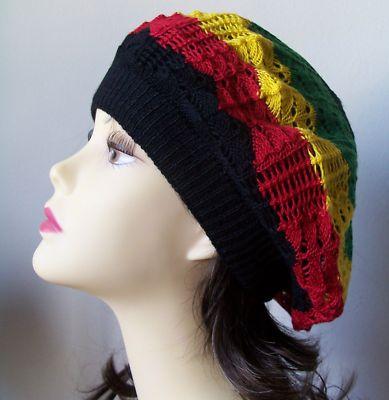 Trendy new reggae hobo rasta jamaica slouchy beanie beret hipster hat