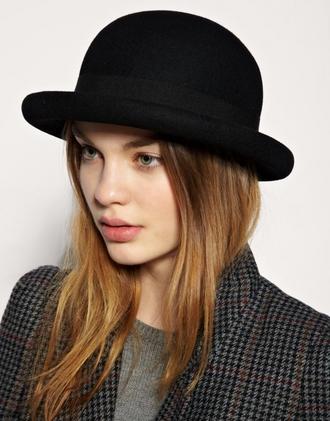 hat black goth hipster