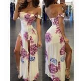 dress,boho dress,floral dress,floral,white dress,white,maxi dress