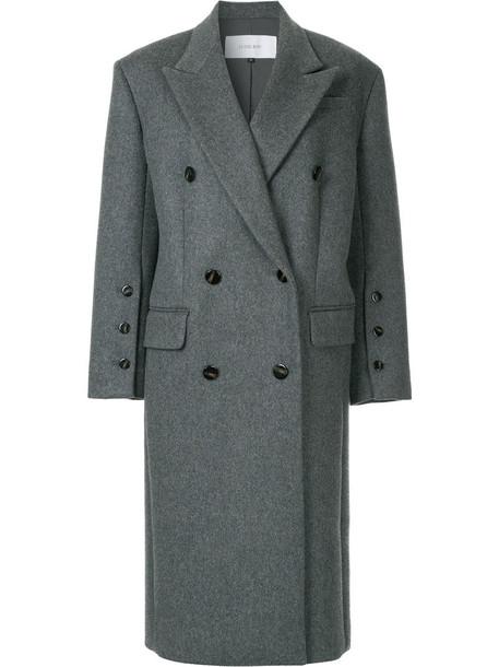 Le Ciel Bleu coat double breasted long women wool grey