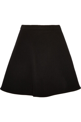 skirt mini skirt mini wool black