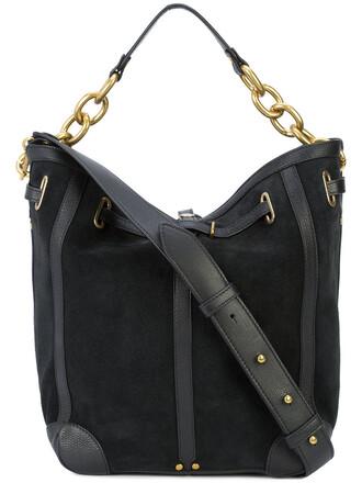 women bag shoulder bag suede black