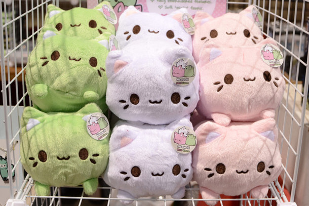 jewels stuffed animal cuties pastel cats home accessory kawaii