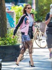 skirt,lace,shirt,sunglasses,jacket,pumps,diane kruger