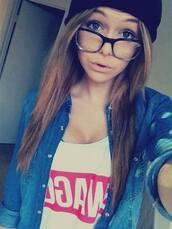 sunglasses,glasses,cool,jacket,coat,acacia brinley,caca boo,girl,swag,hipster,jeans,t-shirt
