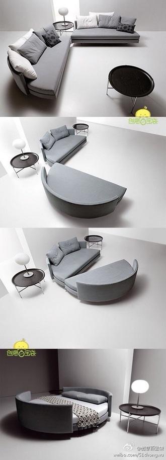 home accessory sofa bedding round canapé grey white design