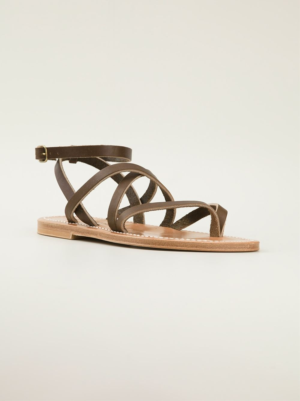 K. Jacques Strappy Flat Sandals - Stefania Mode - Farfetch.com