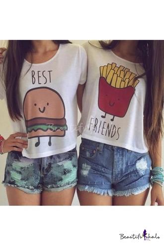 top t-shirt shirt bff best friend shirts best friends top