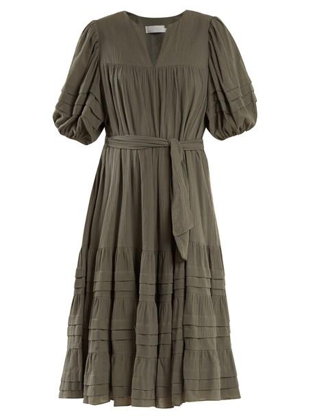Zimmermann dress cotton khaki