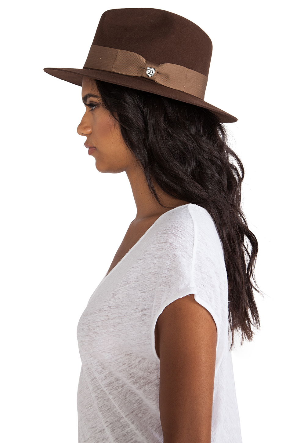 Brixton Ranch Fedora in Brown & Dark Cream from REVOLVEclothing.com