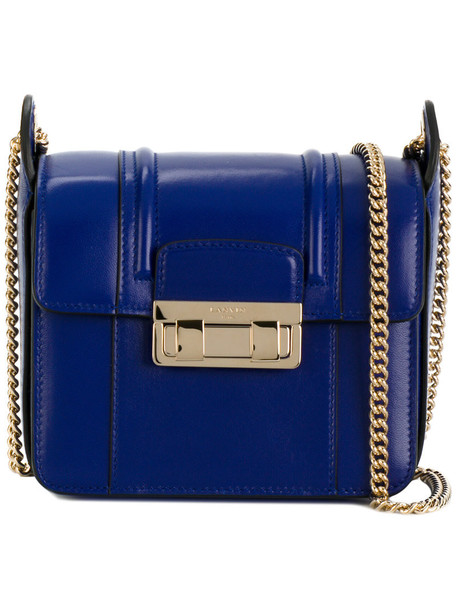 lanvin women bag crossbody bag cotton blue
