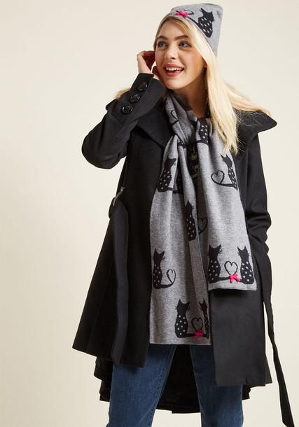 Modcloth style scarf grey