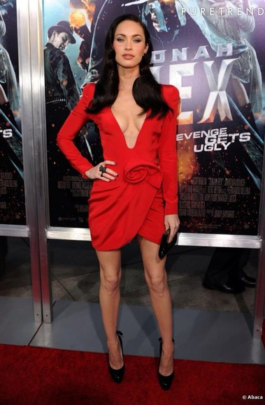 dress megan fox reddress