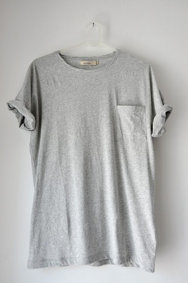 t-shirt shirt grey t-shirt grey pocket tee t shirt shirt pocket