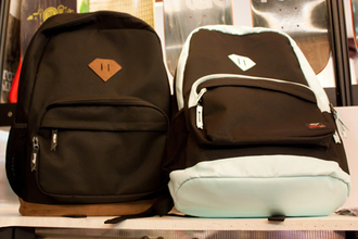 bag black and white boys and girls diamond supply co. brown and black backpack