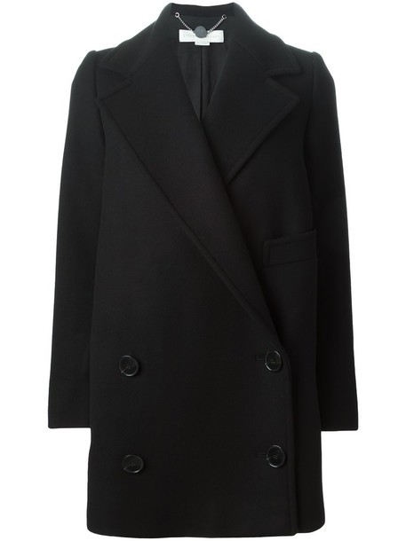 Stella McCartney coat women cotton black wool