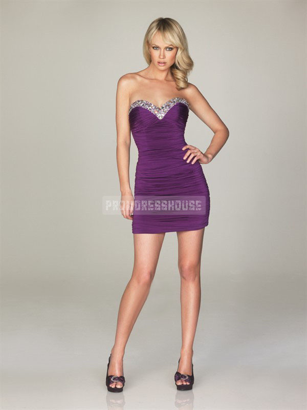 prom dress purple dress fashion dress short dress beaded dress girl chiffon