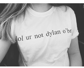 t-shirt lol ur not lol ur not dylan o clothes outfit summer summer drees summer outfits women women drees women style street drees shirt black shirt white shirt famous shirt funny funny shirt