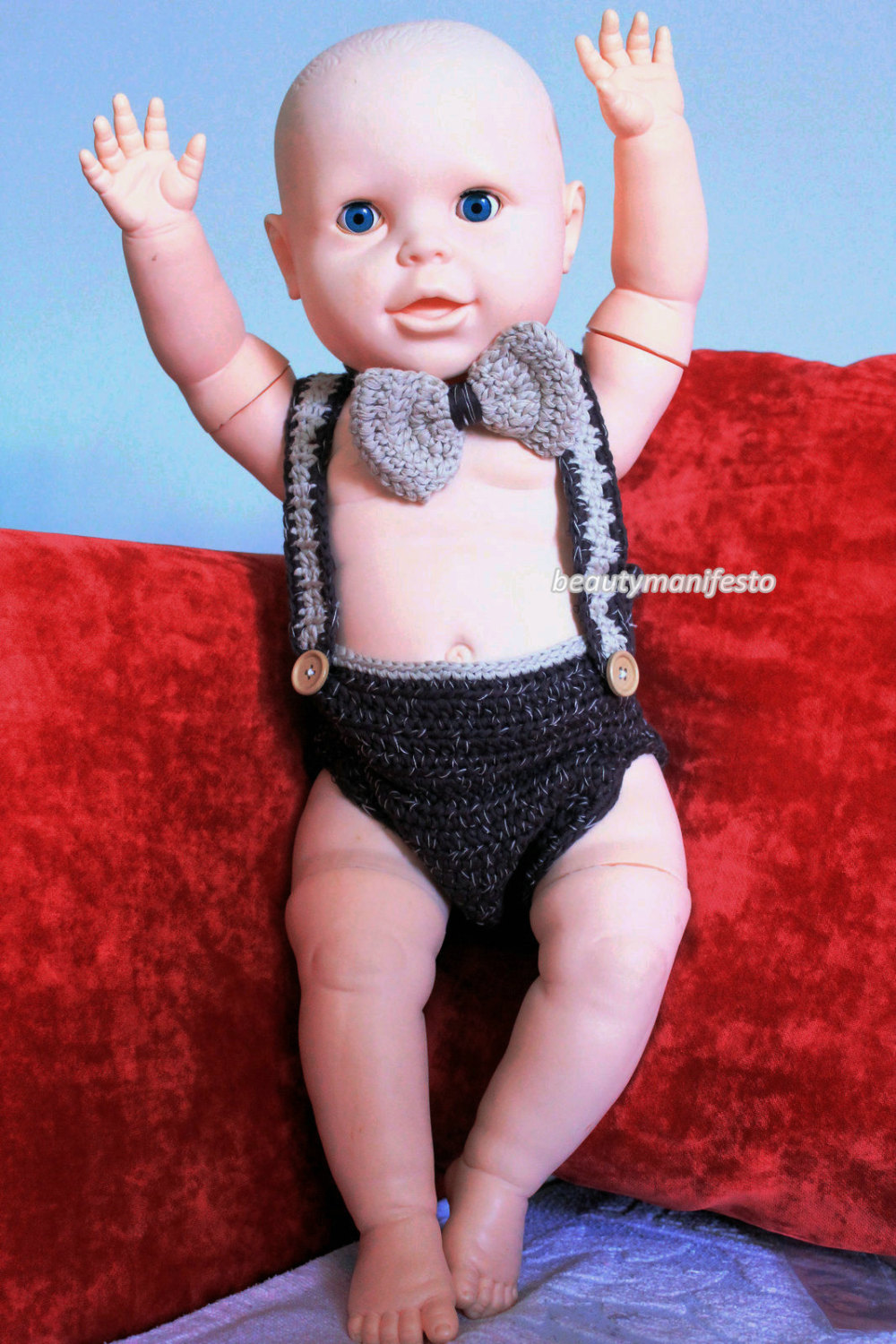 Baby newsboy outfit,suspenders, bow tie, diaper cover,newborn photo prop, baby boy prop, baby shower gift.