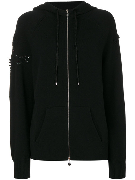 Barrie - zipped hoodie - women - Cashmere - S, Black, Cashmere