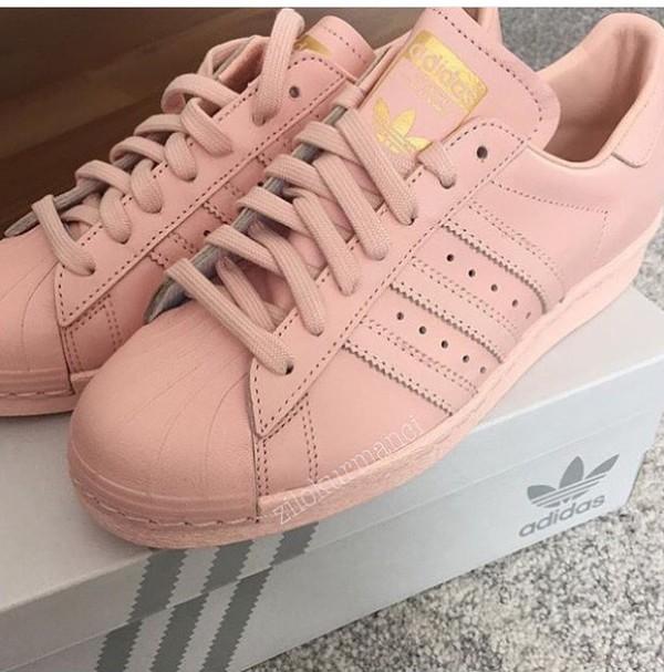 adidas superstar colors light pink