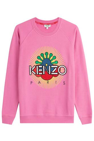sweatshirt statement cotton pink sweater