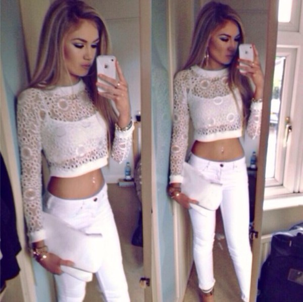 top crop tops pants