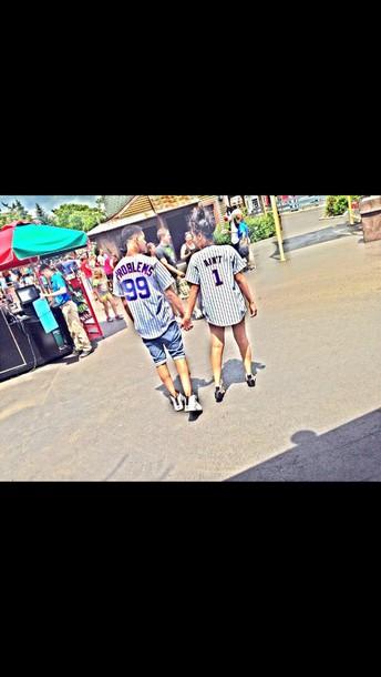 couple girlfriend boyfriend jersey heart Jay Z shirt
