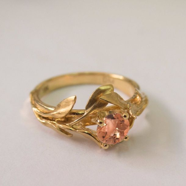 Jewels ring gold rose gold ring delicate gold jewellery