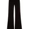 Countess wide-leg stretch-cotton velvet trousers