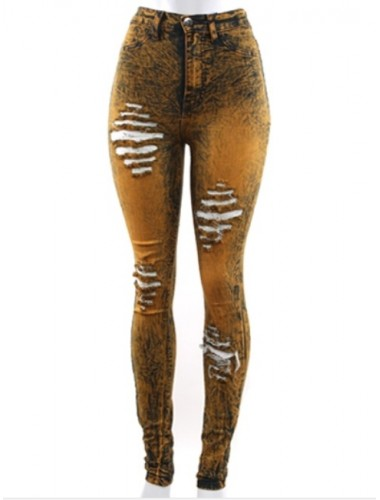Mustard Destroyed Skinny Jeans | Clothing | Womens Clothing, Shoes, Jewelry & Plus Sizes | B. De'Lish