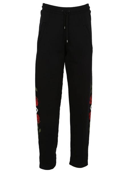Marcelo Burlon pants track pants rose print black