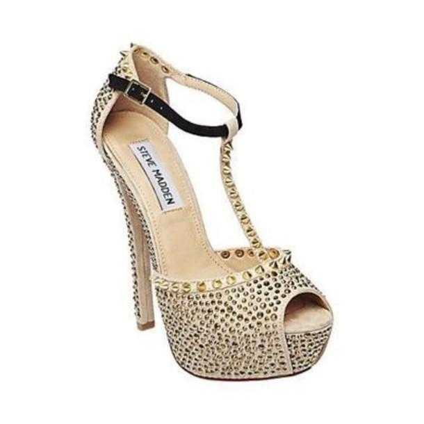 ea4a203952b Steve madden high heels pumps sparkly heels pumps gold wheretoget jpg  610x610 Steve madden sparkly heels