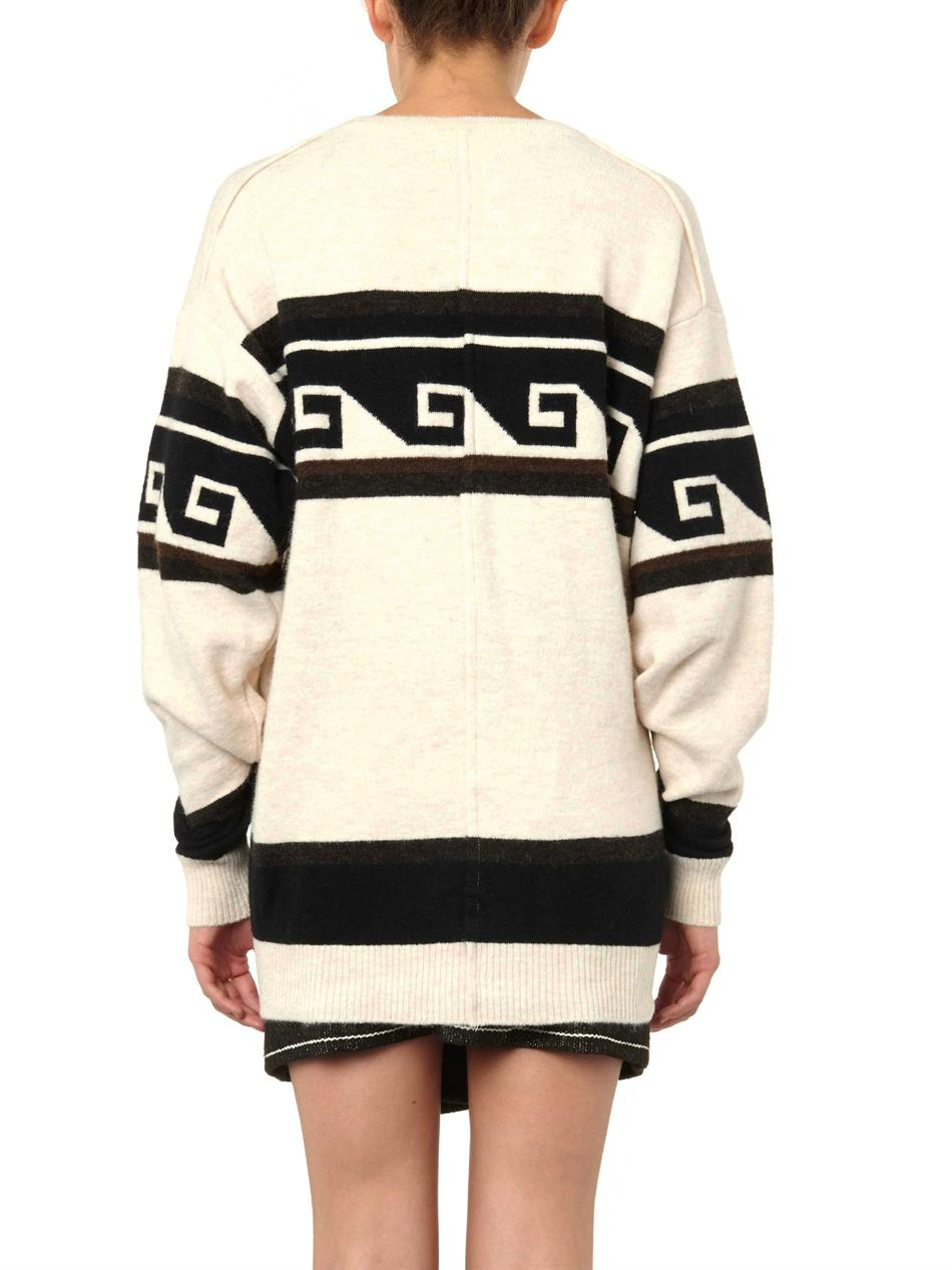 Samuel geometric stripe-knit sweater | Isabel Marant | MATCHES...