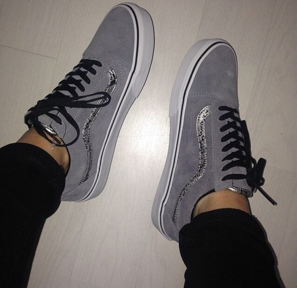 45ab6bfb04 shoes grey grey glitter vans grey vans old skool old skool vans grey  glitter vans